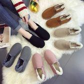 中筒靴—加絨雪地靴女短筒冬季新款鞋子潮韓版冬鞋學生棉鞋百搭面包鞋 依夏嚴選