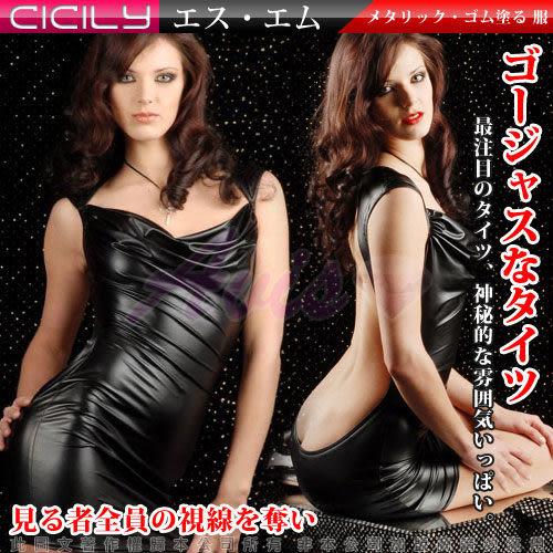 【維納斯情趣精品】虐戀精品CICILY-機動女神 美背 連身塗膠仿皮性感彈力 緊身衣