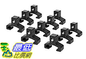 [106美國直購] Olsa Tools|Black Spring Loaded Ball Bearing Socket Clips|10-Pack (3/8-inch)