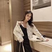 牛仔外套女學院風韓版時尚寬鬆短款牛仔外套女牛仔衣潮復古港味