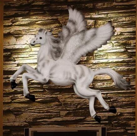 創意工藝品動物飛馬壁飾牆飾壁掛