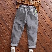 兒童長褲 童裝男童牛仔長褲秋季新款兒童褲子中大童時尚洋氣彈力牛仔褲潮 霓裳細軟