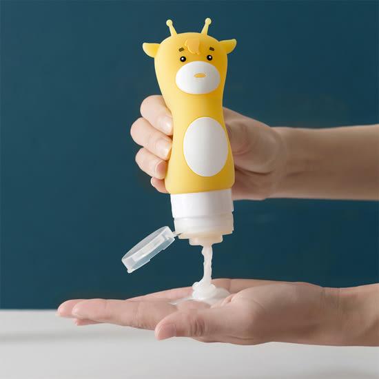 ♚MY COLOR♚  卡通動物旅行分裝瓶-90ML 出差 出遊 創意 度假 化妝品【N246-3】