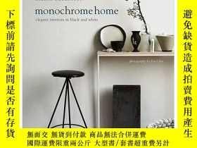 二手書博民逛書店Monochrome罕見Home 單色調之家 室內設計圖書Y23