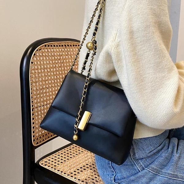 鍊條包 鍊條小方包斜背包女包洋氣側背包包2021新款潮簡約小包包女包洋氣 嬡孕哺