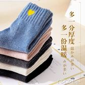 棉襪 襪子女秋冬季加絨加厚保暖羊毛襪女士韓版學院風中筒襪棉襪女 coco衣巷