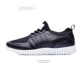 MIT。奈米Ag+。透氣網布。沖孔3D彈簧運動鞋-黑色【09409】