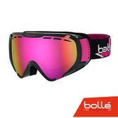 法國 Bolle EXPLORER 青少年款 雙層鏡片設計 防霧雪鏡 亮麗黑星星/玫瑰金 #21504