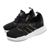 【六折特賣】adidas 休閒鞋 NMD R1 黑 金 白 女鞋 Boost 中底 三葉草 【ACS】 FW6433
