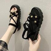 松糕厚底涼鞋仙女風夏季百搭學生鞋時尚羅馬鞋女-Milano米蘭