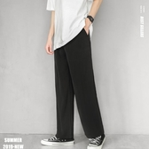 垂墜感西褲男直筒韓版潮流港風闊腿褲寬鬆休閒九分褲薄款西裝褲子 韓國時尚週
