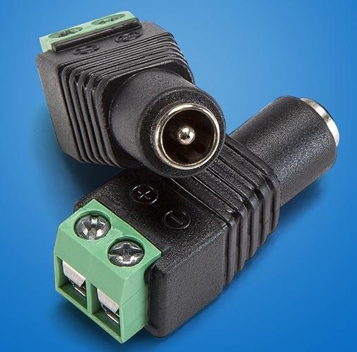 【超人生活百貨】10個一包 快速DC接頭 母頭 DC 5.5x2.1mm 路由器電源轉換頭 LED燈條 0091699-2P1