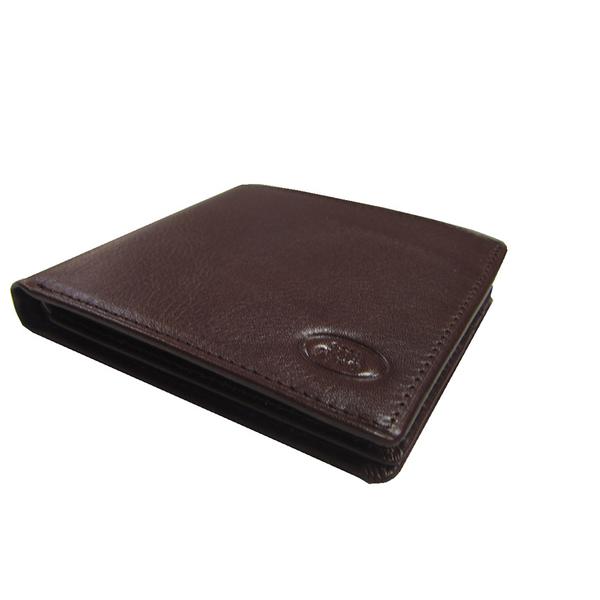 ~雪黛屋~18NINO81 短夾男紳士短型皮夾進口專櫃100%進口牛皮材質標準尺寸固定型證夾BNI10120960