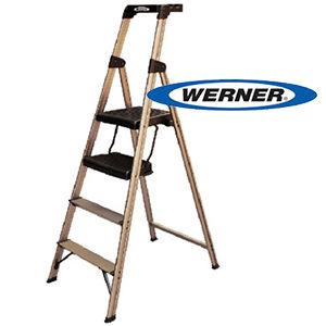 美國Werner穩耐安全梯-234T-3AS優雅金大平台家用梯   鋁梯 A字梯 梯子