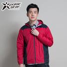 [Polar Star] (男) Fleece 防風保暖外套 紅 (1148P14201101)