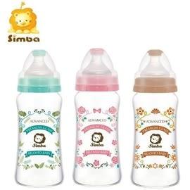 『121婦嬰用品館』Simba 小獅王辛巴 蘿蔓晶鑽寬口葫蘆玻璃大奶瓶270ml/咖啡