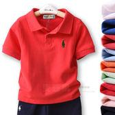 純棉兒童短袖t恤中大童裝女童男童裝2019新款背心寶寶polo襯衫  伊衫風尚