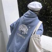 衛衣女秋季長袖韓版寬鬆原宿風獨角獸印花薄款連帽上衣  解憂雜貨鋪
