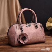 手提包 新款時尚復古韓版簡約花朵單肩斜跨包優雅氣質女包 df10436【Sweet家居】