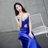 618好康又一發晚禮服新款宴會時尚優雅長裙主持人