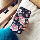 iPhoneX手機殼 可掛繩 刺繡唯美氣...