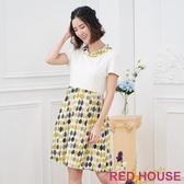 【RED HOUSE 蕾赫斯】拼接花布洋裝