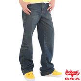 BOBSON 男款貓鬚大直筒牛仔褲(1713-53)