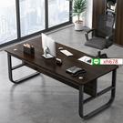 電腦桌簡約現代家具時尚桌椅組合辦公室單人老板桌家用臺式鋼木桌【頁面價格是訂金價格】