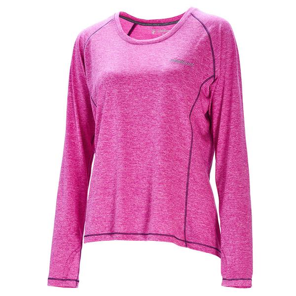 【wildland 荒野】女 圓領雙色抗UV長袖上衣『紫紅』0A71613 T恤 上衣 女版 長袖 排汗 休閒 戶外 登山
