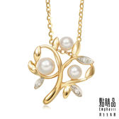 點睛品La Pelle-Petite系列 18K黃K金鑽石珍珠家庭樹吊墜