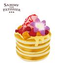 草莓款【日本正版】煎餅 捏捏吊飾 鬆餅 吊飾 捏捏樂 軟軟 squishy 捏捏 SAMMY - 620439