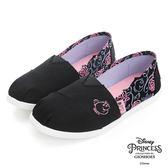 Disney 美女與野獸系列~玫瑰輕便懶人鞋-黑