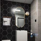 浴室鏡 北歐橢圓浴室鏡橢圓形壁掛鏡美式浴室鏡玄關鏡裝飾鏡臥室梳妝鏡T 2色