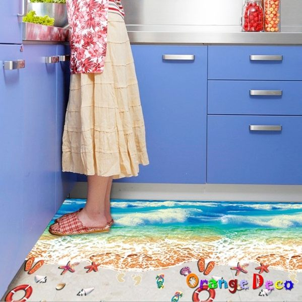 壁貼【橘果設計】沙灘 DIY組合壁貼 牆貼 壁紙 室內設計 裝潢 無痕壁貼 佈置