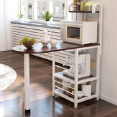 微波爐置物架A款 三層實木廚房置物架 廚房收納架 收納櫃《YV9707》快樂生活網
