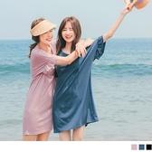 《DA7612-》台灣製造.兩面穿微甜層次荷葉寬版洋裝/長版上衣 OB嚴選