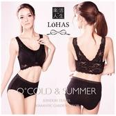 LOHAS 天絲棉無鋼圈美背機能內衣(附胸墊)-黑-XL【屈臣氏】