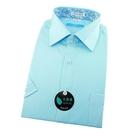 【南紡購物中心】【襯衫工房】短袖襯衫-蒂芬尼藍白色細條紋