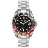RHYTHM日本麗聲 Sport 100米石英手錶-黑x紅圈/40mm RQ1601S05