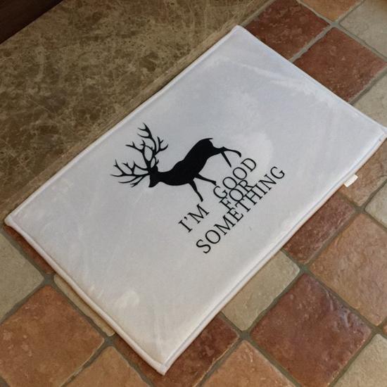 鹿兒剪影圖案地墊(短) 門墊 腳墊 地毯 玄關 浴室 廚房 臥室 客廳 防滑 時尚【V025】MY COLOR