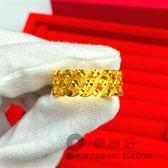 戒指/鍍金男女情侶仿真首飾