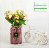 北歐歐式創意簡約玻璃彩色透明花瓶