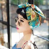 歐美復古發帶寬發箍時髦vintage印花布藝鋁絲兔耳朵頭巾發飾 多莉絲旗艦店