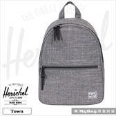 Herschel 後背包 灰色 質感小清新 女用後背包 Town-919 MyBag得意時袋