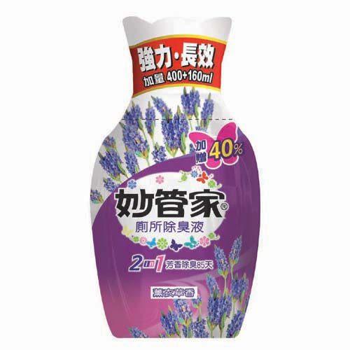 【妙管家】E&Q廁所消臭液(玫瑰香)400ml+160ml
