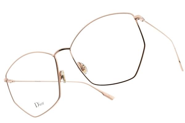 Dior 光學眼鏡 STELLAIREO4 DDB (玫瑰金) 法式優雅方框款 #金橘眼鏡
