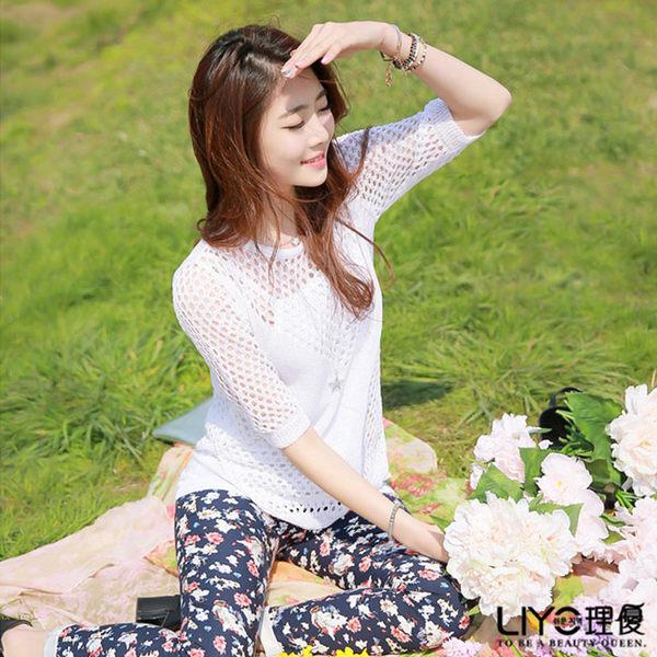 LIYO理優韓風上衣短袖針織上衣537019