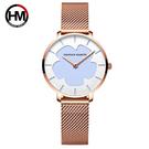 【HANNAH MARTIN】黑科技紫外線光變色太陽錶-白變藍(HM-1333)-魔法變色手錶