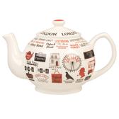 英國Churchill James SADLER 850ML造型茶壺-英倫塗鴉