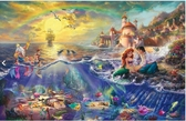 【拼圖總動員 PUZZLE STORY】小美人魚 日系/Beverly/Thomas Kinkade X 迪士尼/1000P